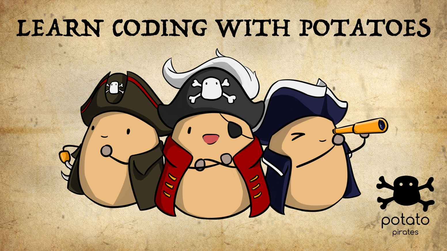 Potatoes, programming and piracy rolled into a strategic card game perfect for classrooms, family days, or even game night with friends