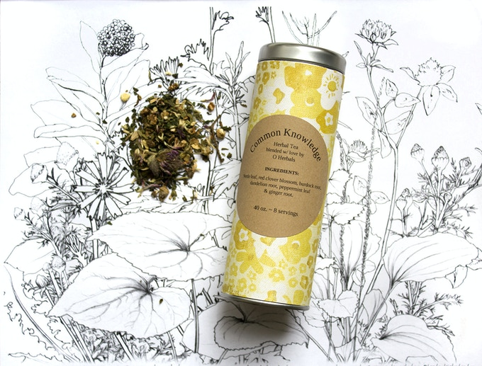 Common Knowledge Tea and Smoke Blends by Herbalist Olivia Fite  $15