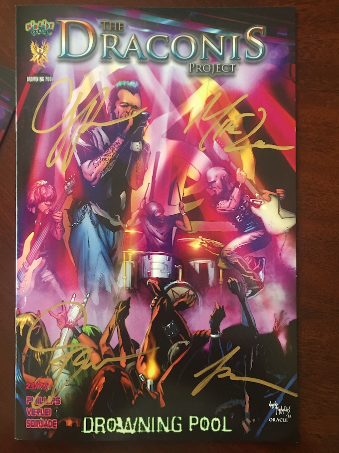 Drowning pool signed and numbered variant cover.