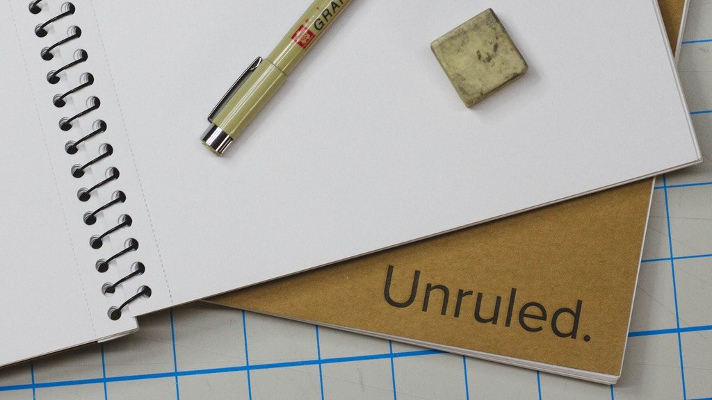 Unruled. A sustainable notebook for creative thinkers. project video thumbnail