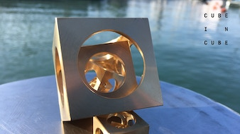 Cube In Cube In Oligodynamic Brass