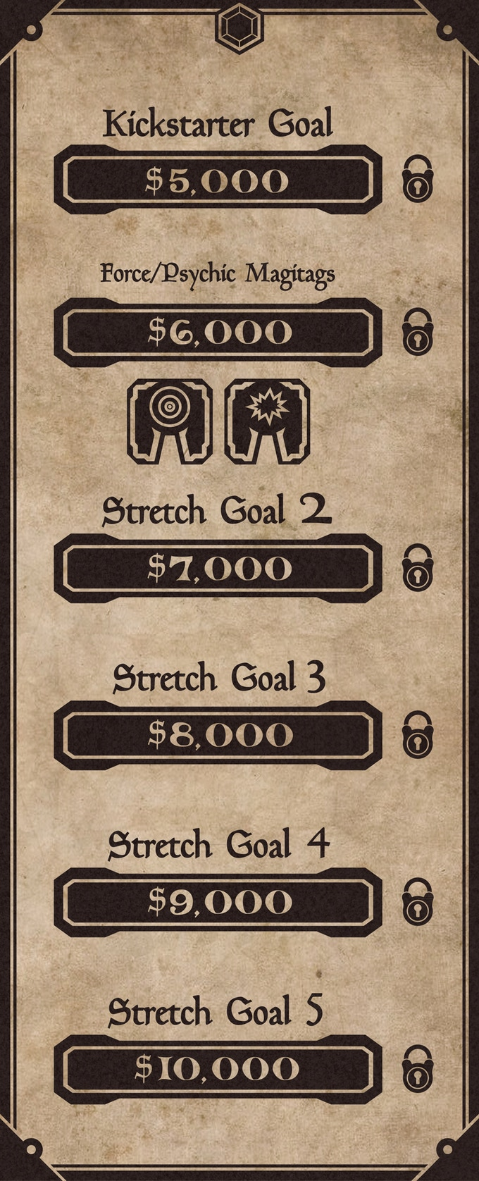 Our Stretch Goals will bring enhancements and other improvements to the project.