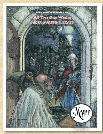 An example of a module cover. Art by Mark Adelhoch