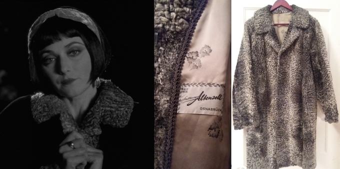 Glamorous vintage fur coat with silk lining, as worn by Olga Fedori in the film