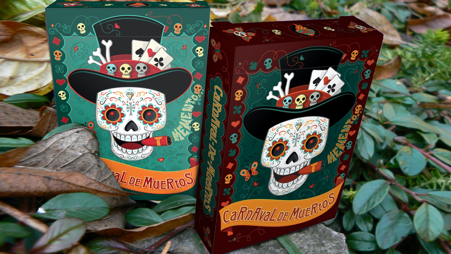 Beautiful hand drawn playing cards, inspired by the celebration of Dia de los muertos. Designed and printed by Noir Arts | NPCC