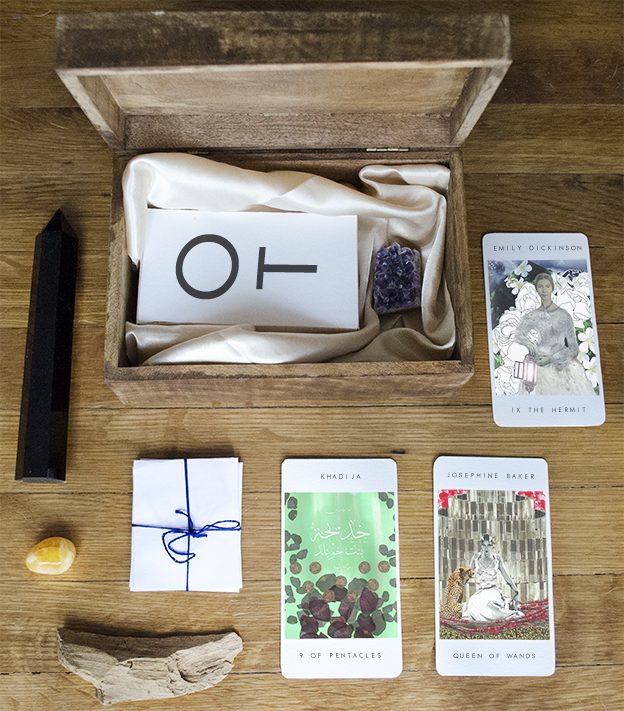 Example concept rendering of Our Tarot Keepsake Kit - part of the reward level The Empress!