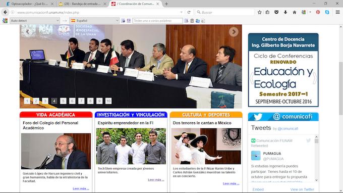 Publicación Portal de Comunicación FI