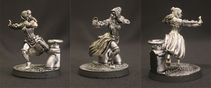 35mm Amzi Goodenough Pewterized Miniature (to scale)