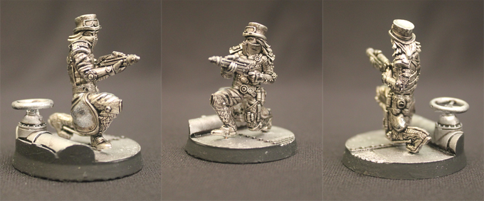 Captain Bryant Templeton, Pewterized Miniature (to scale)