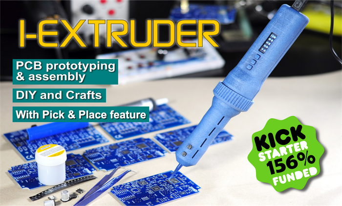"""The revolutionary air-free, USB powered, solder paste and adhesives dispenser and Pick & Place """"two-In-one"""" tool, for SMT PCB prototyping and assembly, DIY and Crafts"""