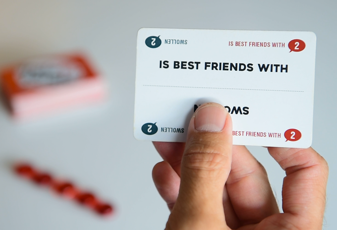 Players can choose to use the words on either side of the card, but not both.