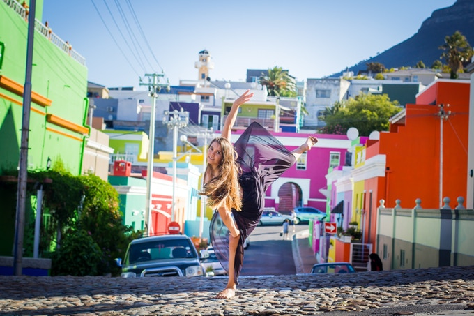 """Palmira graces Bo Kaap, Cape Town. """"What inspires me to dance is..."""""""
