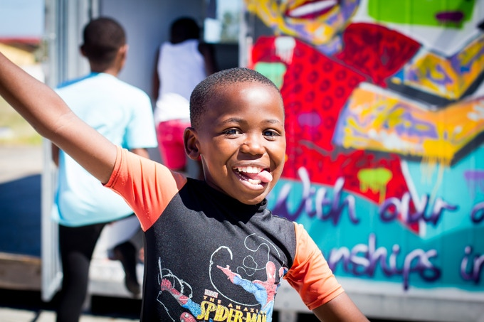 All smiles in Gugulethu. This boy absolutely lit up whenever...