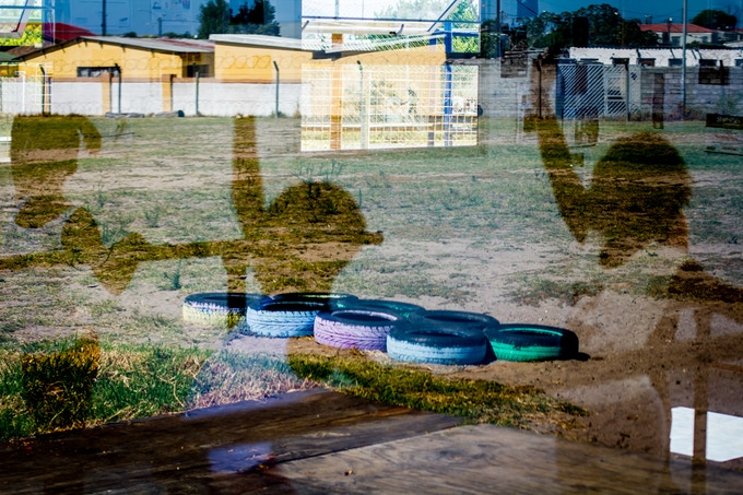 Reflections show the potential of dancers in Gugulethu...