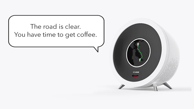 Your alarm clock is now a personal assistant. By learning about your agenda and hobbies, Bonjour helps make the most of each day.