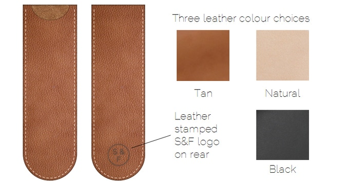 Handmade leather pen sleeve - just add £18 to your pledge