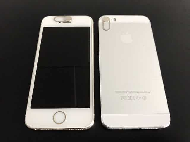Intelligent Security | Camera Cover fits on the front and back of the iPhone 4, 4S, 5, 5C, 5S and SE.