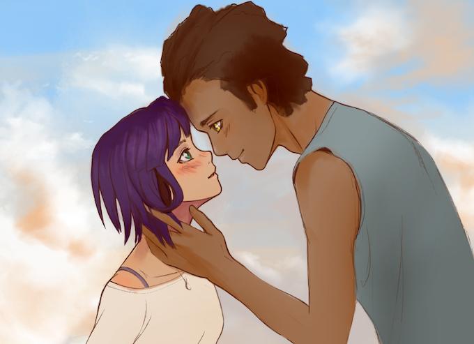 Work-in-progress CG of Lilya and Ben.