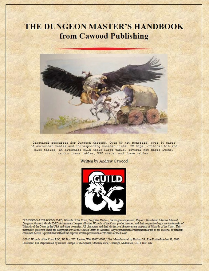 Reviews of our Dungeon Master's Handbook on the DMs Guild