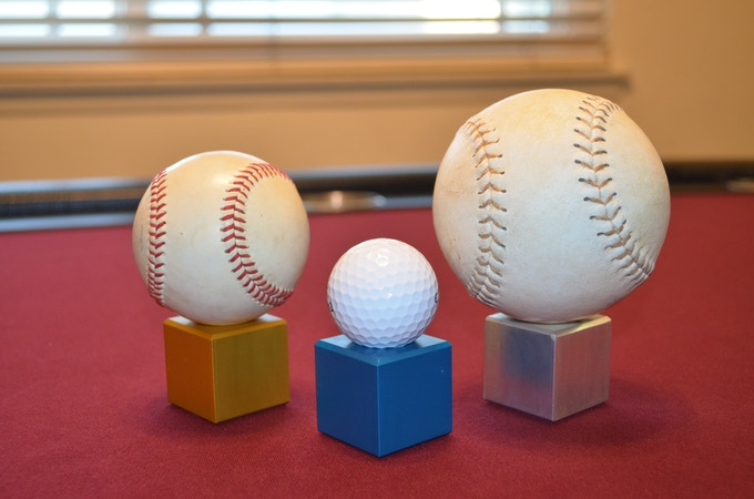Showcase your important balls with the EverCube. (Ex: homerun ball, hole in one ball, or signed ball)