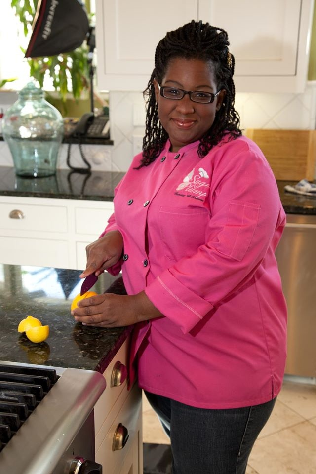 Not everybody can rock a pink chef's coat.