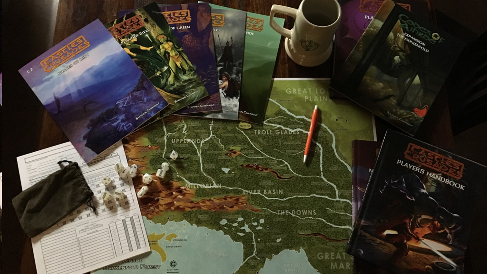 Steve Chenault's Darkenfold! The adventures that launched the bone cleaving, magic wielding bare-knuckles RPG: Castles & Crusades!