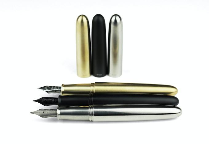PIUMA - Brass, Matte Black Aluminum, Titanium
