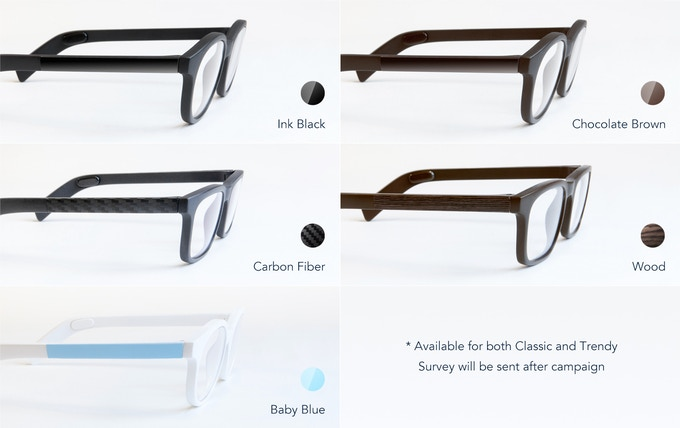 bbbcdf11d87 Vue s temple piece (sides of the frames) comes in the following styles   Prescription Lenses
