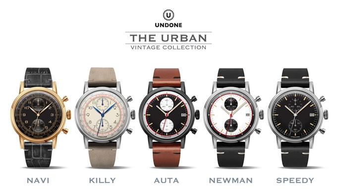 Fixed Design Backer's Rewards Starting at US$139/HK$1050: The Urban 'Navi', 'Killy', 'Auta', 'Newman' and 'Speedy' Chronograph.