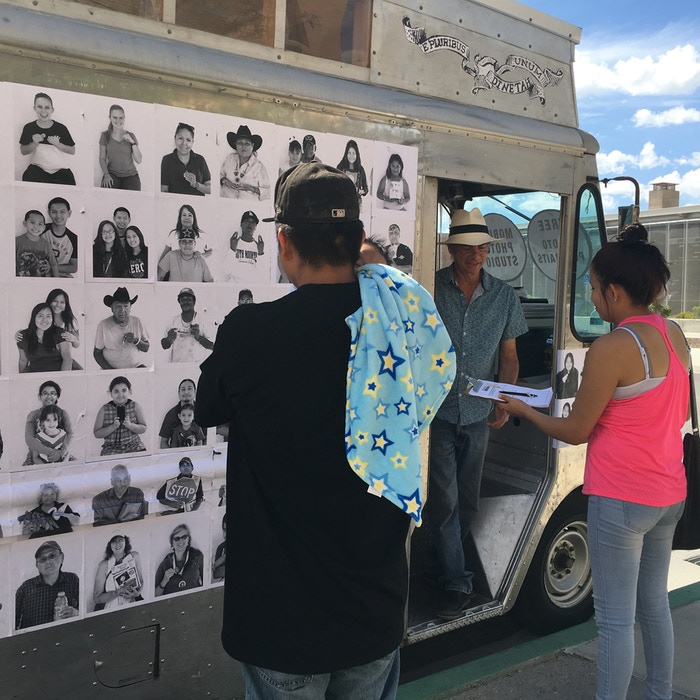 Our mobile photographic portrait studio travels the the Navajo Nation in September & exhibits the photos at the Navajo Nation Museum.