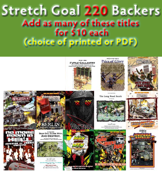 Stretch Goal - 220 Backers Book Deal