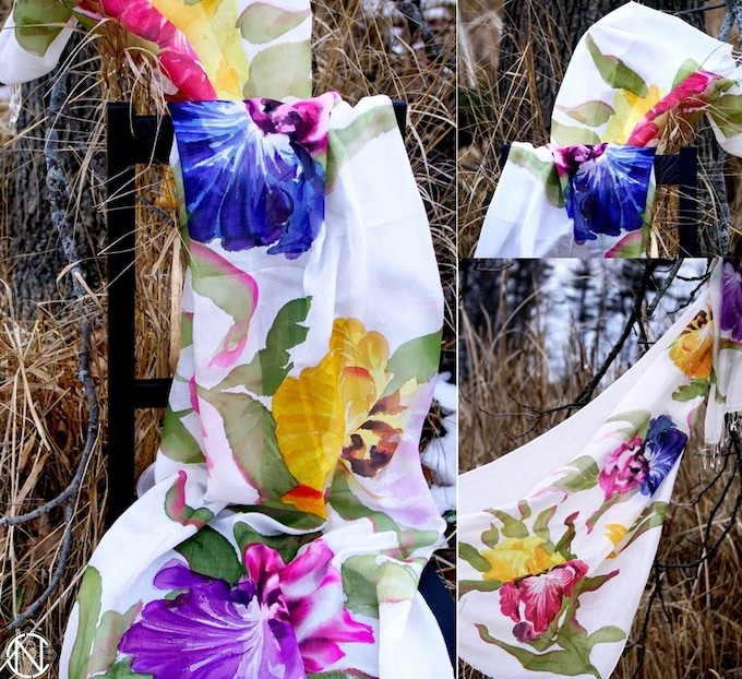 World's First Ethically Produced Hand Painted Scarf Line