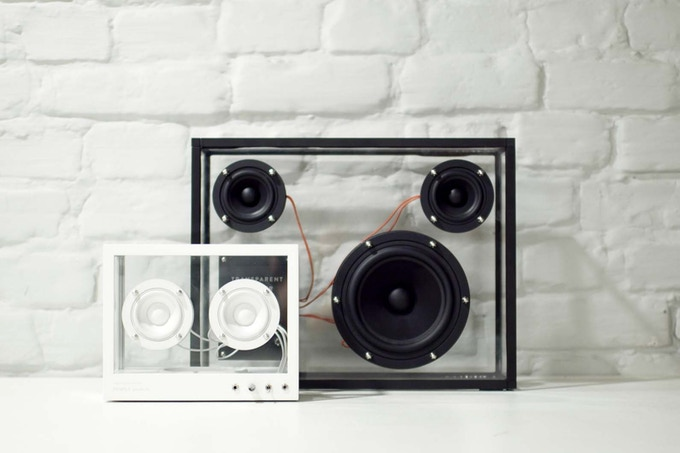 Small Transparent Speaker with the original Transparent Speaker
