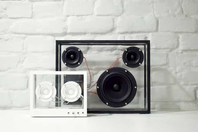 Small Transparent Speaker with the original Transparent Speaker