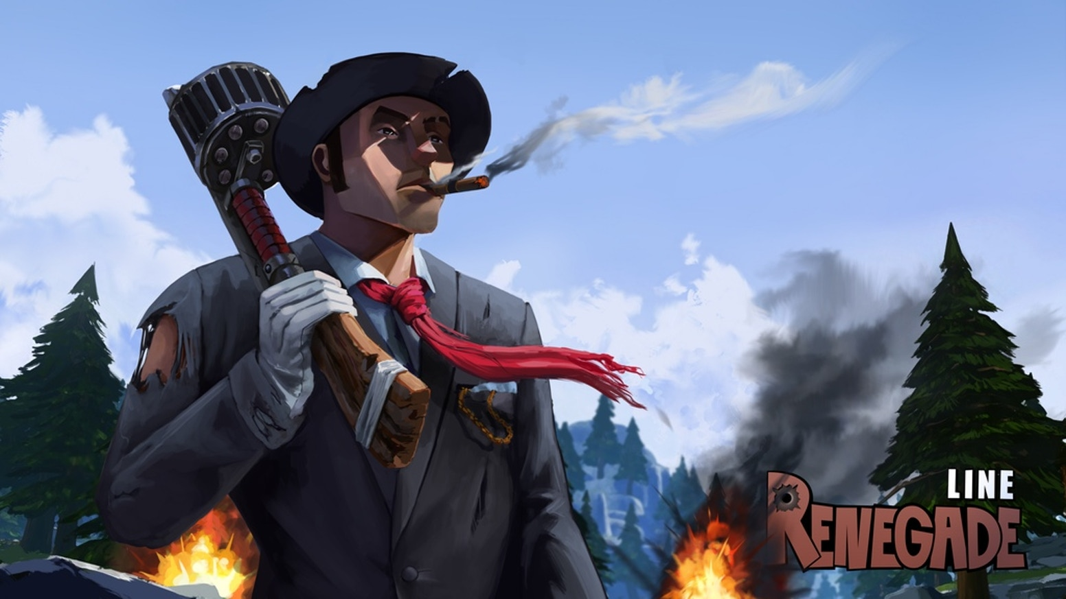 Renegade Line is a third person comic shooter featuring different classes with various abilities.