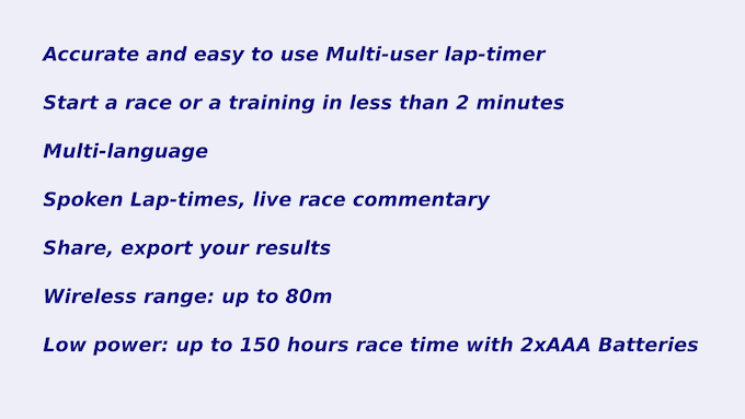 LapMonitor: Multi-user lap timing and counting system by GY