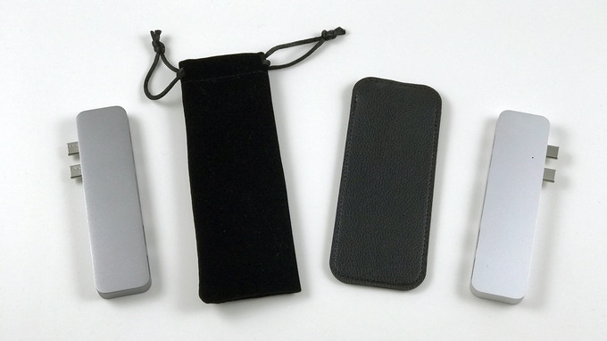 Free velvet pouch ($300K stretch goal), Free upgrade to leather pouch ($500K stretch goal)