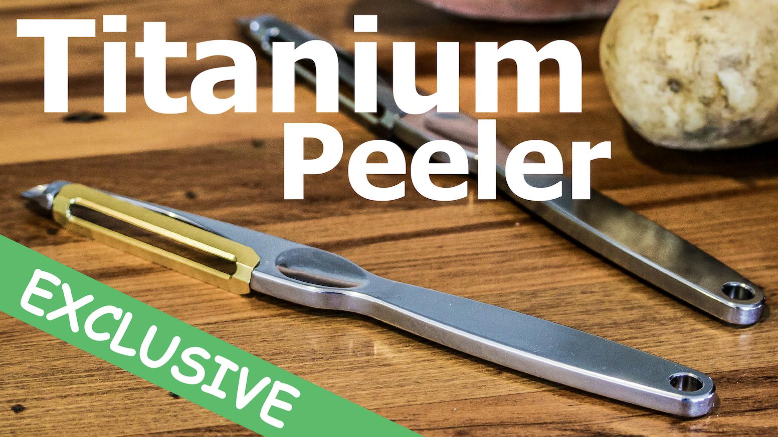 High-End Titanium Vegetable Peeler. Precision Engineered. Fully Grade-5 Titanium. The Ultimate Kitchen Tool!