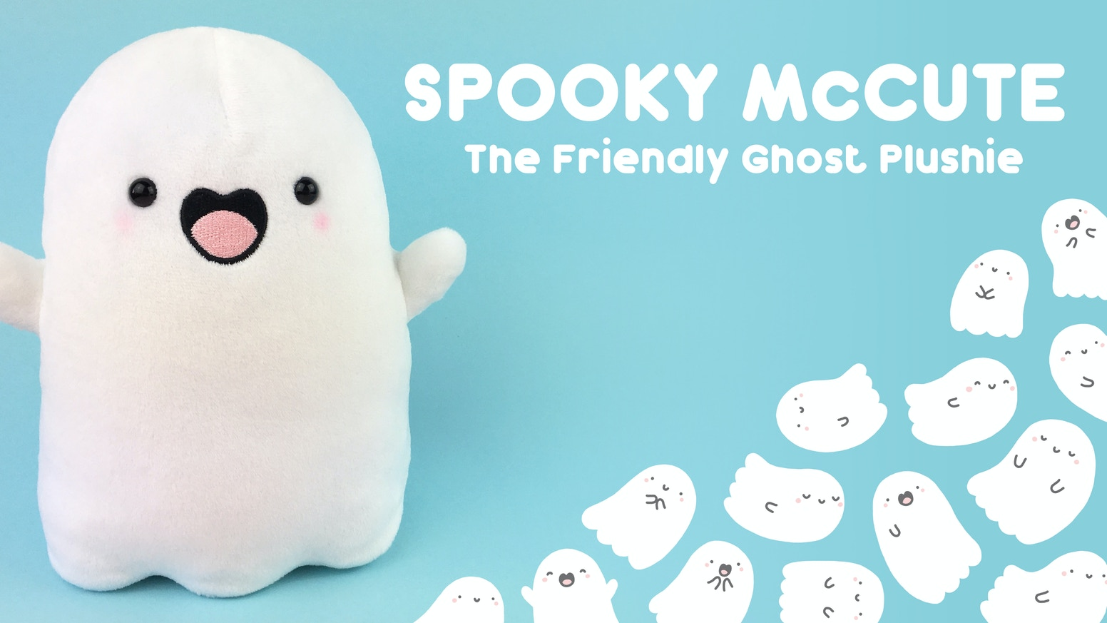 Spooky McCute - the Friendly Ghost Plushie!