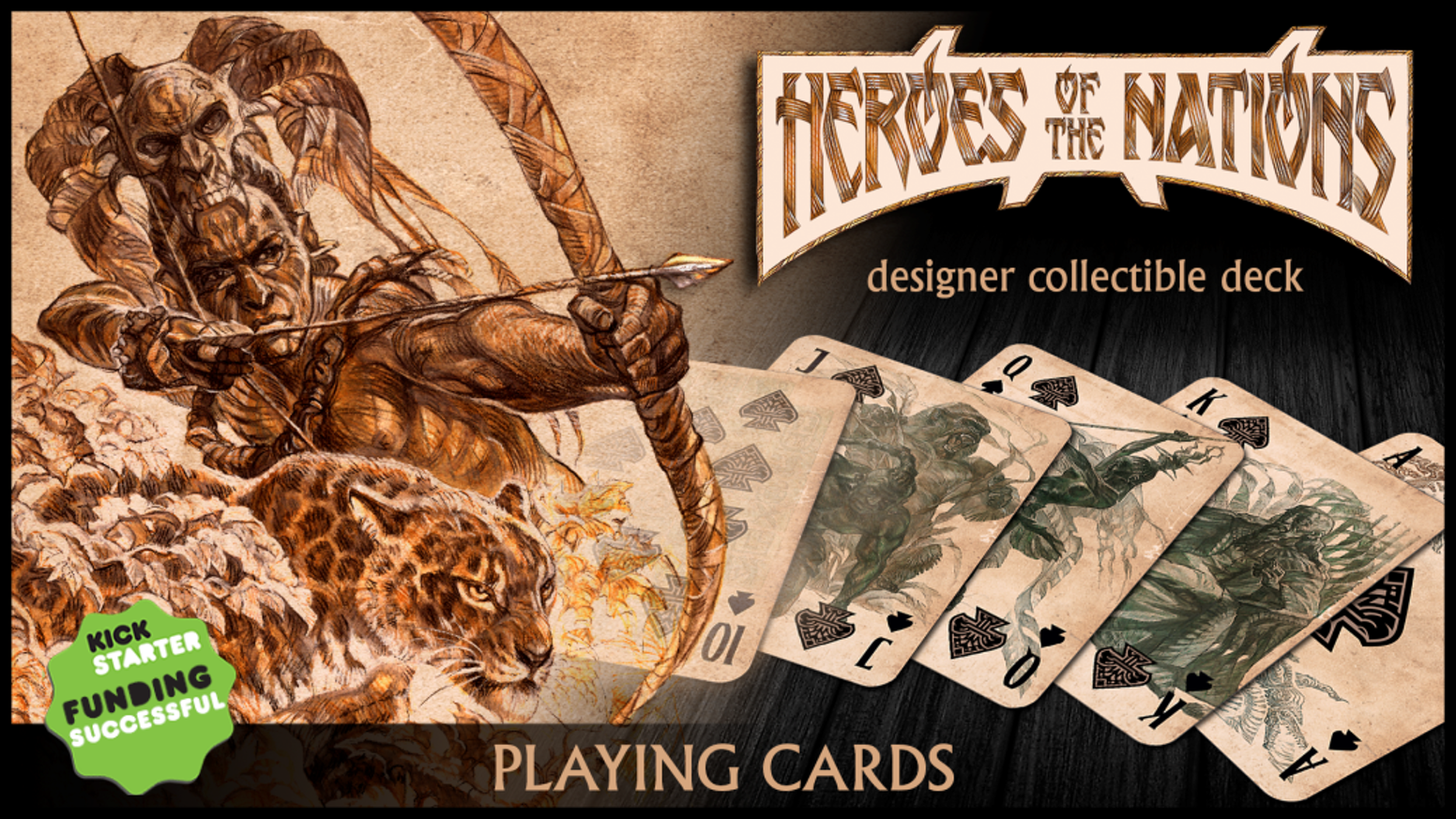 Playing cards inspired by the fantasy genre – modern masterpiece. Hand-made by our artist, printed by USPCC
