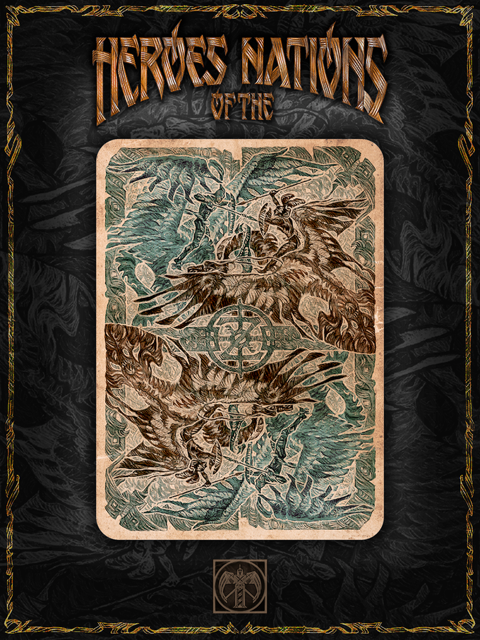 the reverse side of playing card