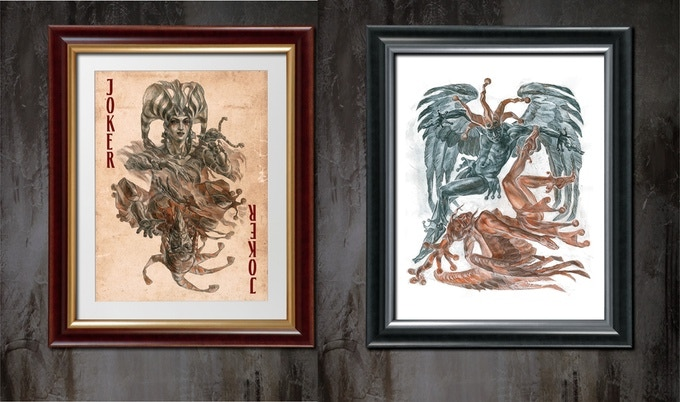 We offer prints of the project's best designs on the textured paper Size 40 x 56 cm, signed by the artist.