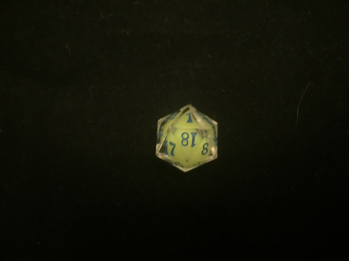 Water element in the new yellow pigment with blue numbers