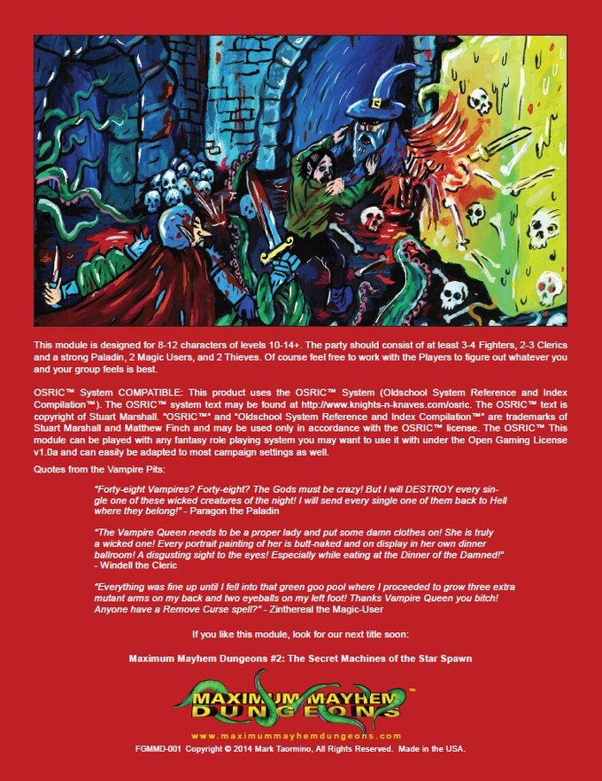 Maximum Mayhem Dungeons #4: Vault of the Dwarven King by