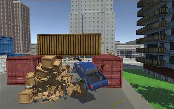 Screenshot for driving game