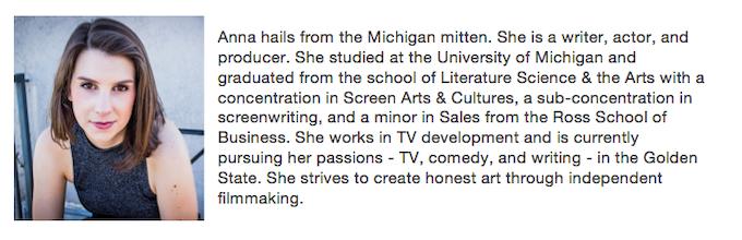 Anna Baumgarten, Writer/Producer