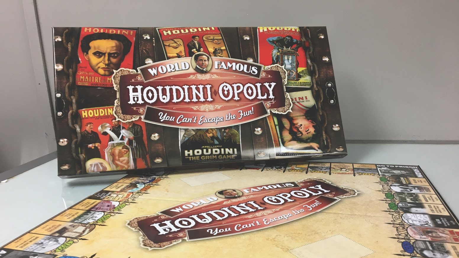Exciting fun educational game. One of World's great legends & heros. Highest funded-most backed KS in SCRANTON history. 2nd highest funded Houdini project in KS. Stretch goal pawns sent out. Games soon to be shipped. Address labels being printed