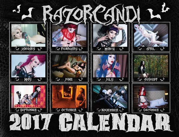 Sold Out RazorCandi Calendar Back Cover
