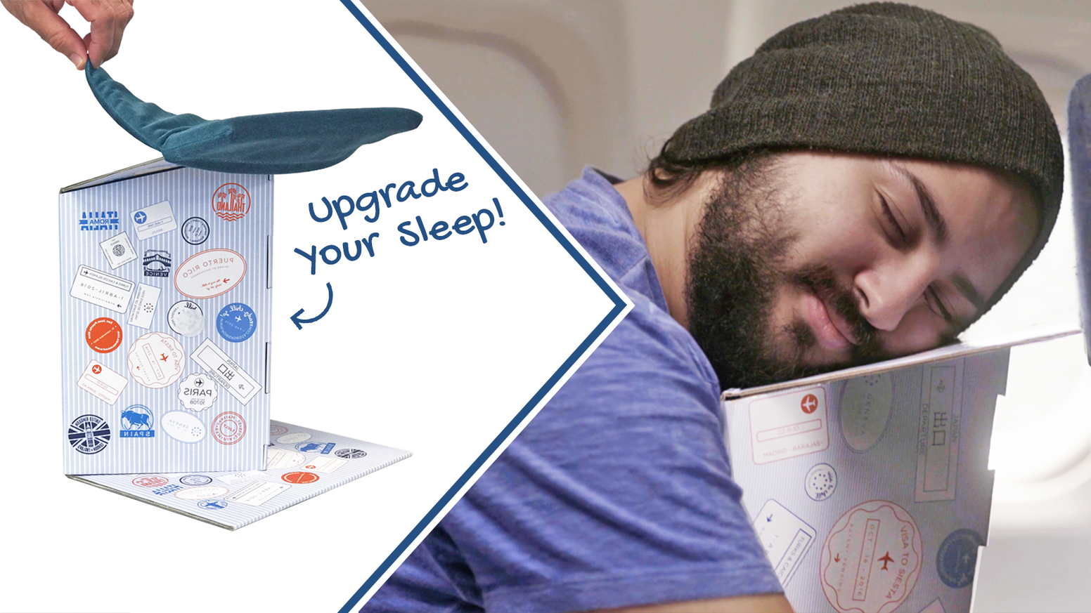 An eco-friendly, compact, ergonomic sleep solution designed by a rocket scientist. Get the best rest you've ever had while traveling!