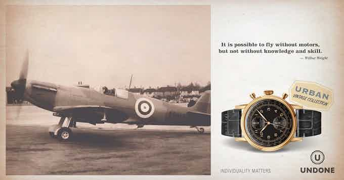 The 'Navi', inspired by the classic dial design of the vintage Breitling Navitimer, the first chronograph with an integrated flight computer. It was engineered for pilots to calculate complicated operations without any other tool.